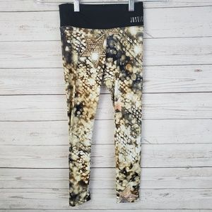 Justice Gold Light Star Leggings